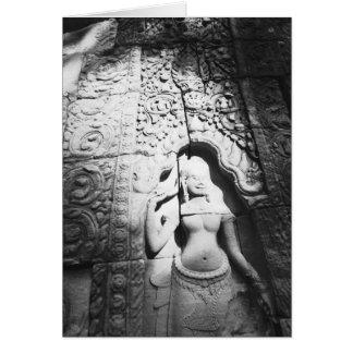 Angkor Cambodia, Apsara Carving The Bayon Card