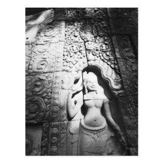 Angkor Cambodia, Apsara Carving The Bayon Postcard