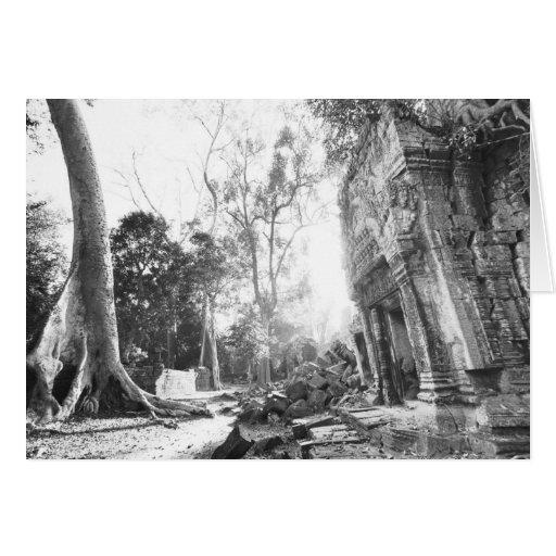 Angkor Cambodia, Details Ta Prohm Greeting Card