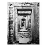 Angkor Cambodia, Doorways Preah Khan Post Card