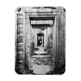 Angkor Cambodia, Doorways Preah Khan Rectangular Photo Magnet