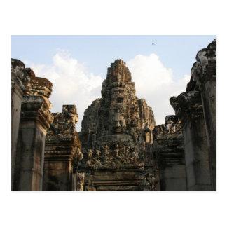 angkor cambodia face postcard