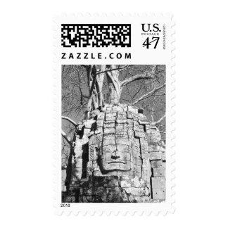 Angkor Cambodia, Head Ta Som Temple Postage Stamp