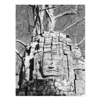 Angkor Cambodia, Head Ta Som Temple Postcard