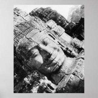 Angkor Cambodia, Head The Bayon Poster