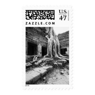 Angkor Cambodia, Ta Prohm Tree Postage Stamp