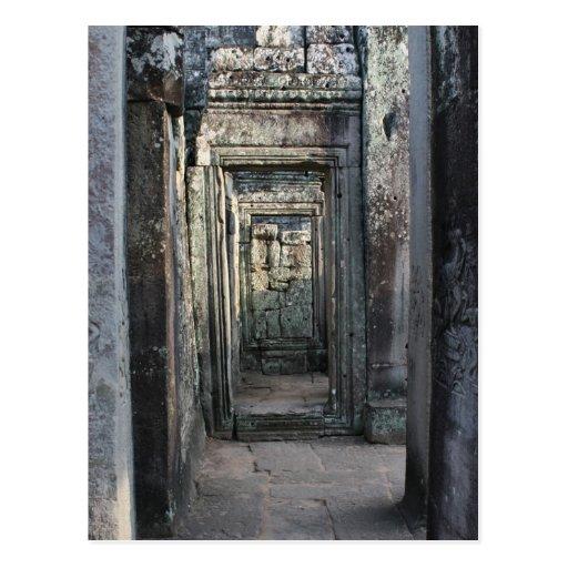 angkor doors post card