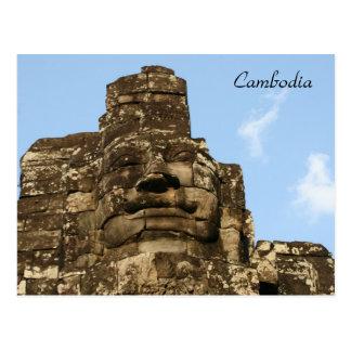 angkor face postcard