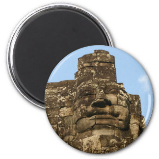 angkor rock face 2 inch round magnet
