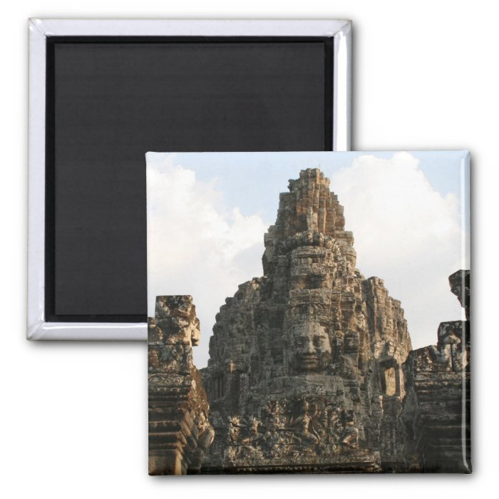 angkor stone face 2 inch square magnet