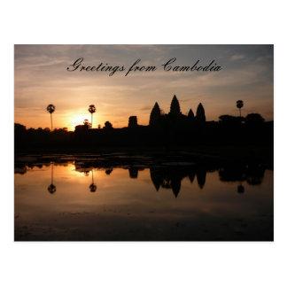 angkor sun reflect postcard