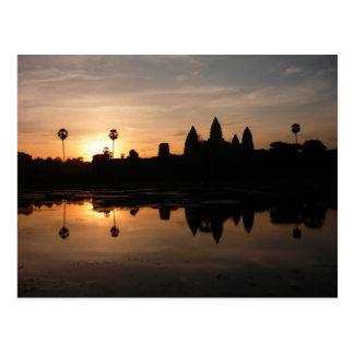 angkor sun reflections postcard