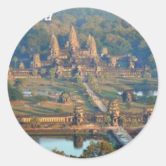 -Angkor-WAT-Angie. Classic Round Sticker