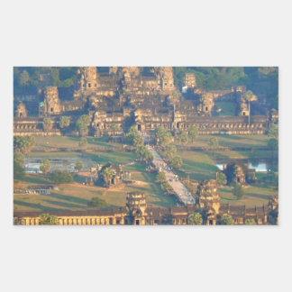 -Angkor-WAT-Angie. Rectangular Sticker