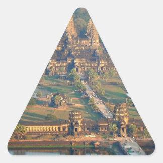-Angkor-WAT-Angie. Triangle Sticker