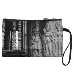 Angkor Wat Aspara Dancers Cambodia Art Photography Wristlet Wallet