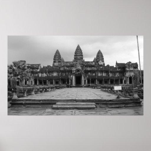 Angkor Wat B&W 2 Poster