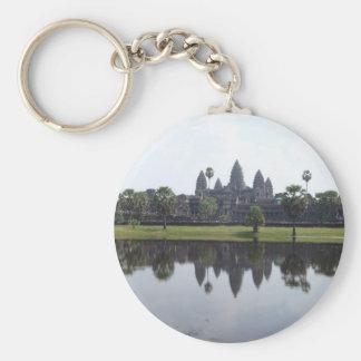 Angkor Wat Basic Round Button Keychain