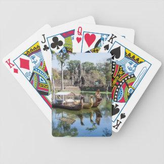 angkor wat. bicycle playing cards