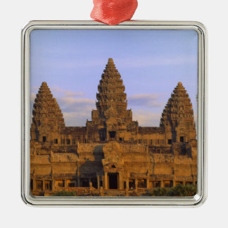 Angkor Wat, Cambodia Square Metal Christmas Ornament