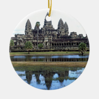 Angkor Wat Cambodia Temple Travel Photography Ceramic Ornament