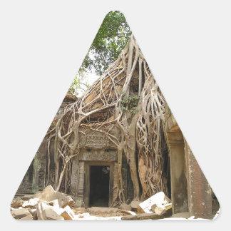 Angkor Wat Cambodia Triangle Sticker