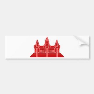 Angkor Wat Cambodian / Khmer Flag Bumper Sticker