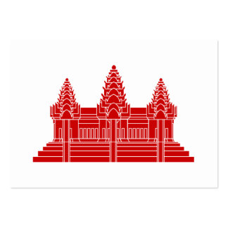 Angkor Wat Cambodian / Khmer Flag Large Business Card
