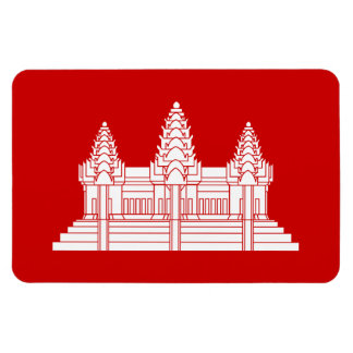Angkor Wat Cambodian / Khmer Flag Vinyl Magnet