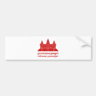 Angkor Wat Cambodian / Khmer Flag with Motto Bumper Sticker