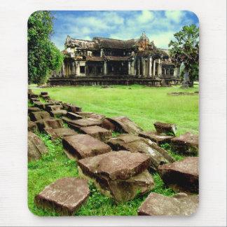 Angkor Wat Crumbled Causeway Mouse Pad