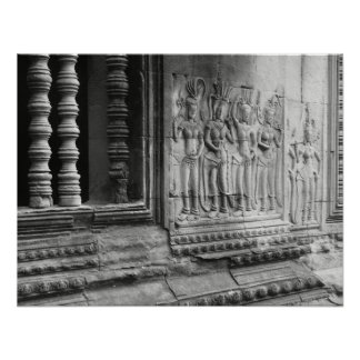 Angkor Wat Inner Courtyard Poster