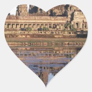 -Angkor-Wat-[kan.k] Heart Sticker