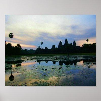 Angkor Wat Morning, Cambodia Poster print