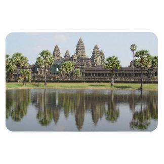angkor wat reflection rectangular photo magnet