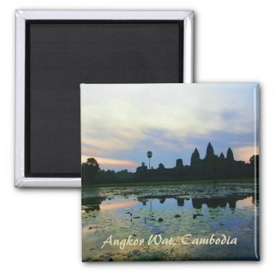 Angkor Wat Silhouette Colours Magnet magnet