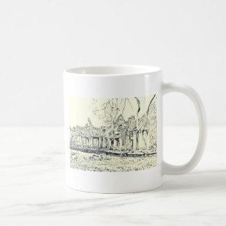 Angkor Wat Sketch Coffee Mug