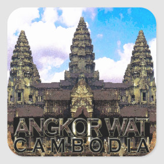 Angkor Wat Square Sticker