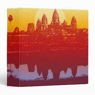 Angkor Wat Sunset Modern Silhouette Art Sunrise Binder