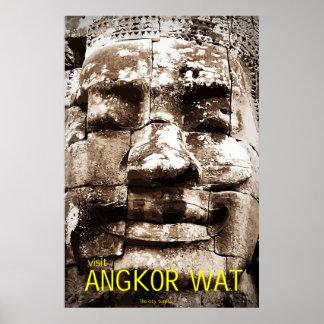 Angkor Wat Travel Poster