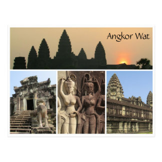 angkor wat views postcard