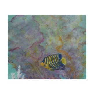 Angle fish painting on canvas print