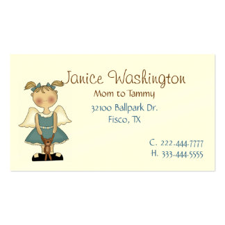 Angle Girl with Teddy Bear Mommy Card Business Card