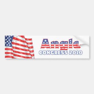 Angle Patriotic American Flag 2010 Elections Car Bumper Sticker