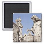 Angle Statue Close Up in La Recoleta Cemetery 2 Inch Square Magnet