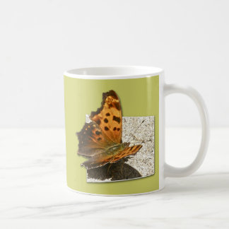Angle Wing Comma Butterfly Series Classic White Coffee Mug
