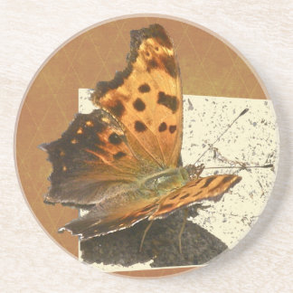 Angle Wing Comma Butterfly Series Sandstone Coaster