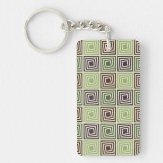Angled Blocks Keychain