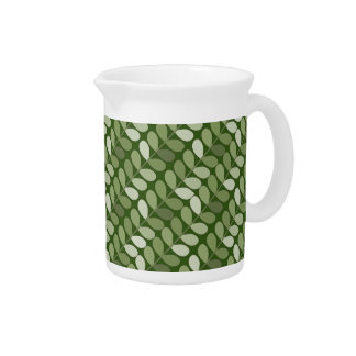 Angled Green Vines Pitcher