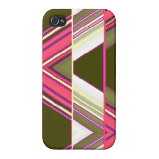 Angled Striped iPhone 4 Glossy Finish Case